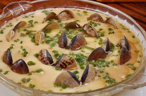 花蛤蒸蛋的做法