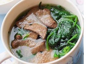 菠菜猪肝汤的做法 猪肝汤的功效