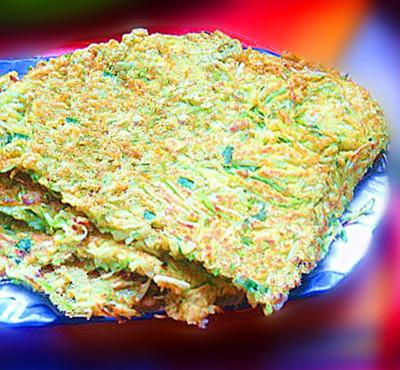 虾皮角瓜鸡蛋饼