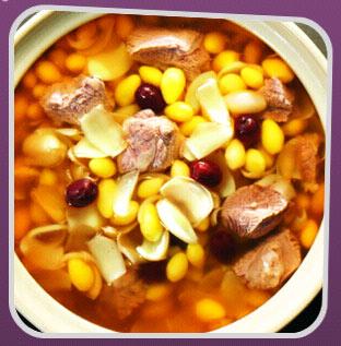 百合白果牛肉汤