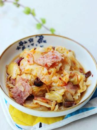 美味便当菜:培根手撕包菜的做法