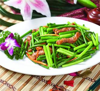 蒜苗的几道可口的菜肴制作方法