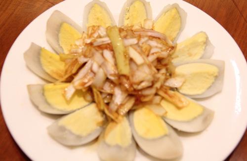 豆浆煮鹅蛋